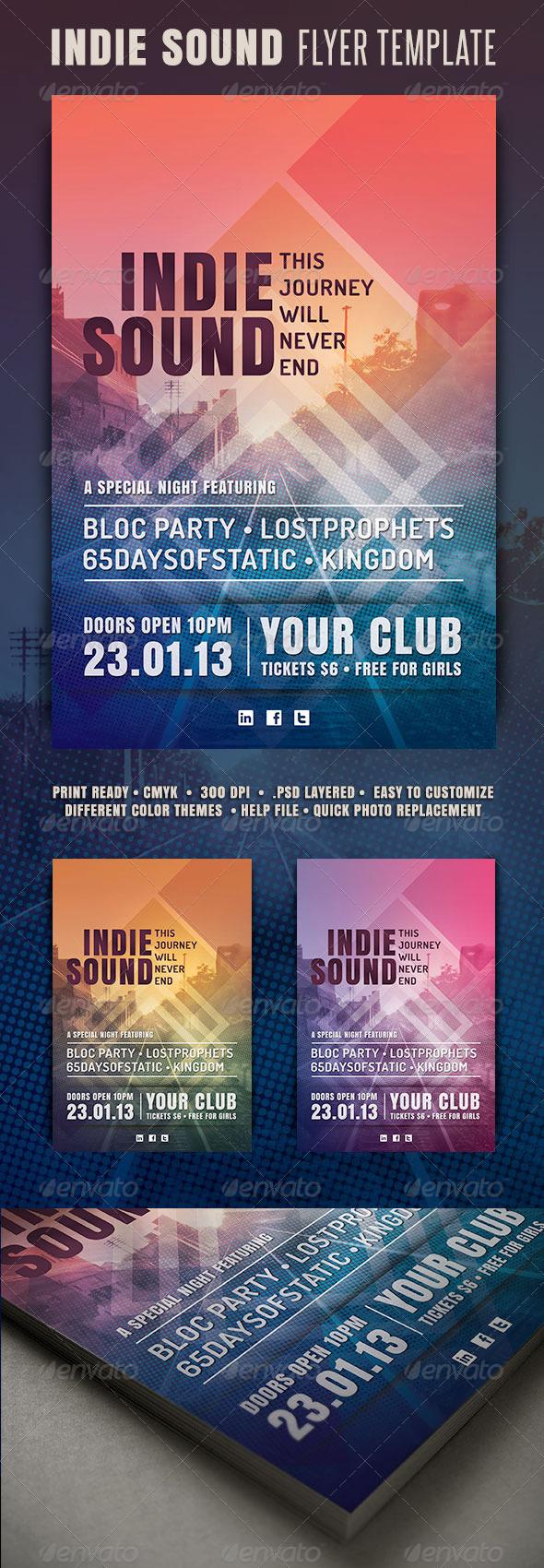 GraphicRiver Indie Sound Flyer 3519957