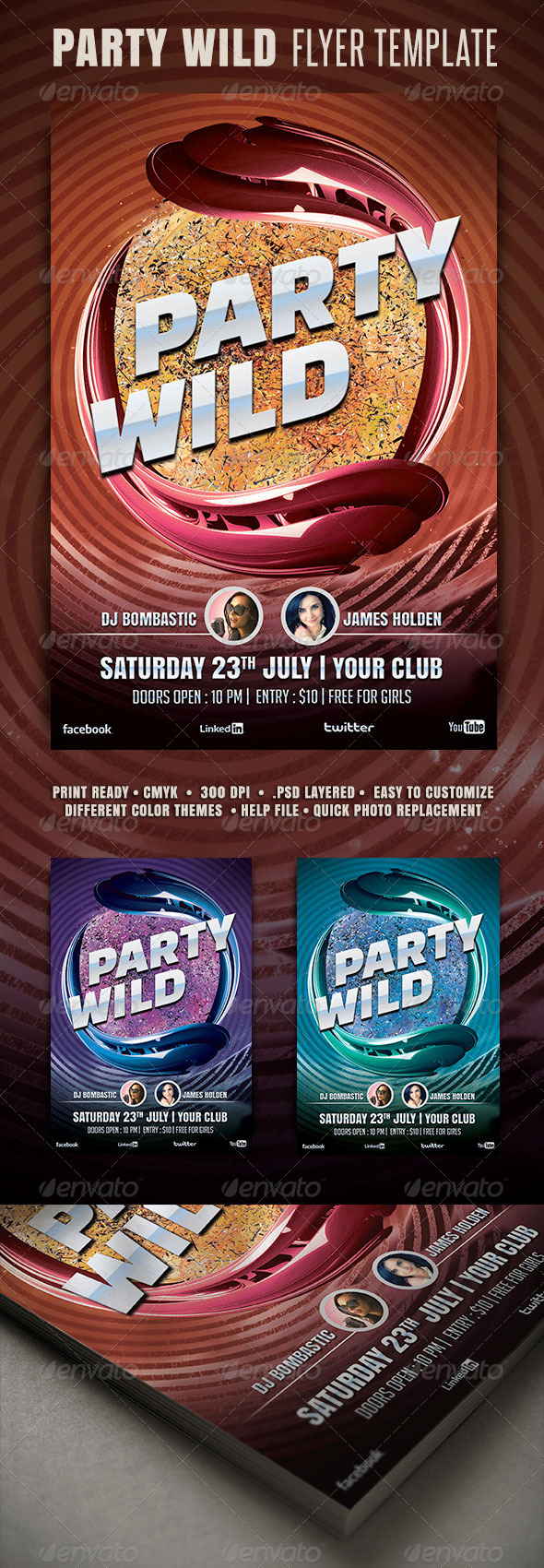 GraphicRiver Party Wild Flyer 3464213