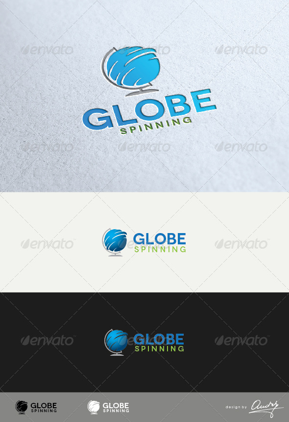 GraphicRiver Globe Spinning Logo Template 3418731