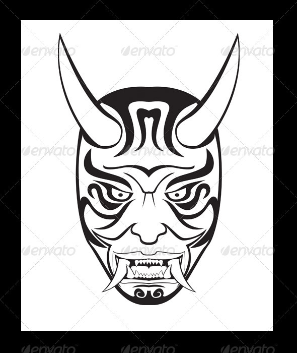 ONI Mask Illustration