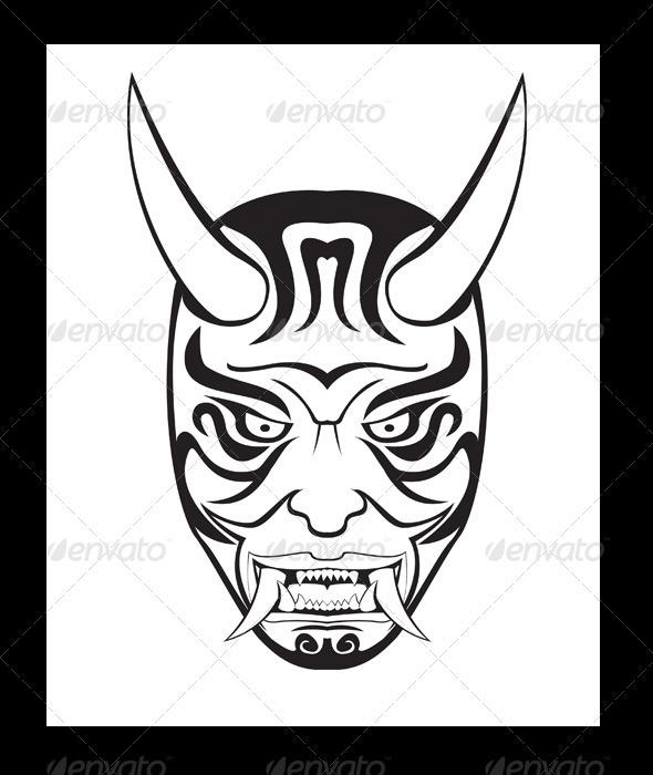 GraphicRiver ONI Mask Illustration 3495546