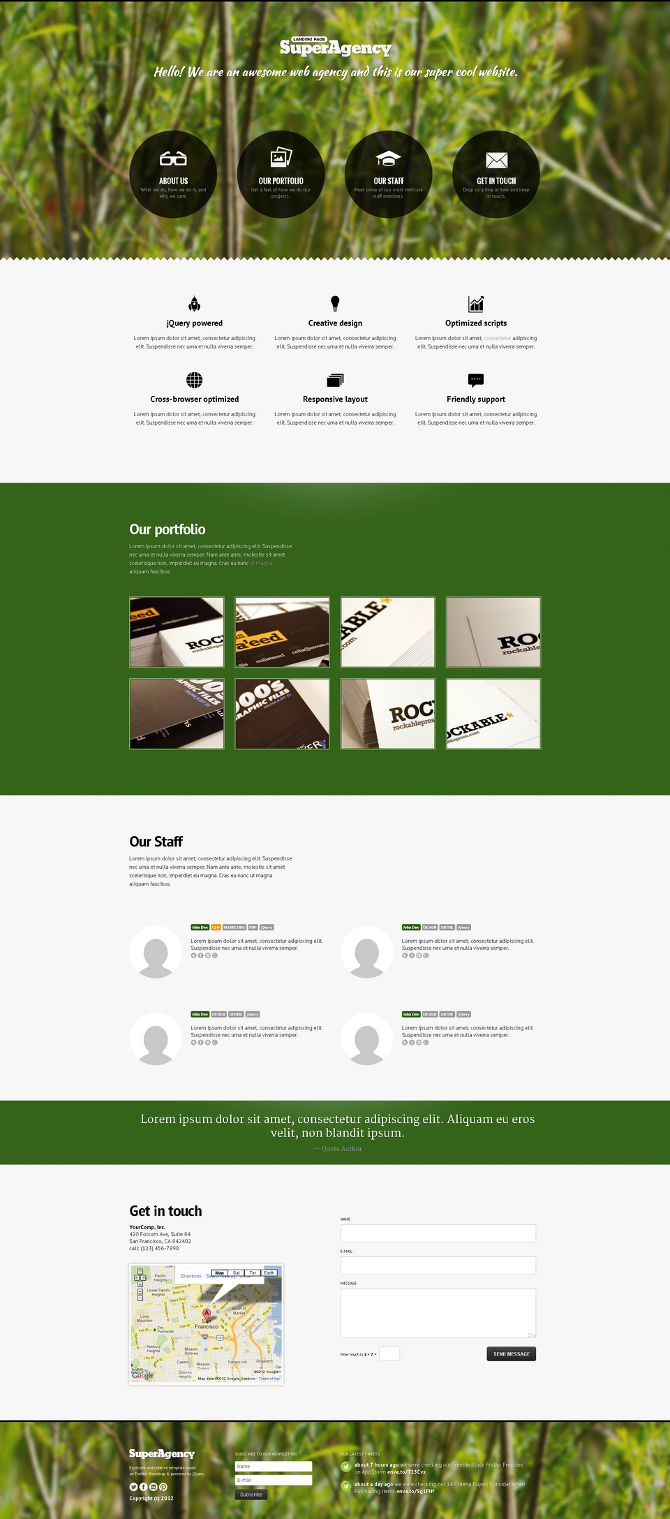 Super Agency - Responsive Landing Page - Super Agency Landing Page