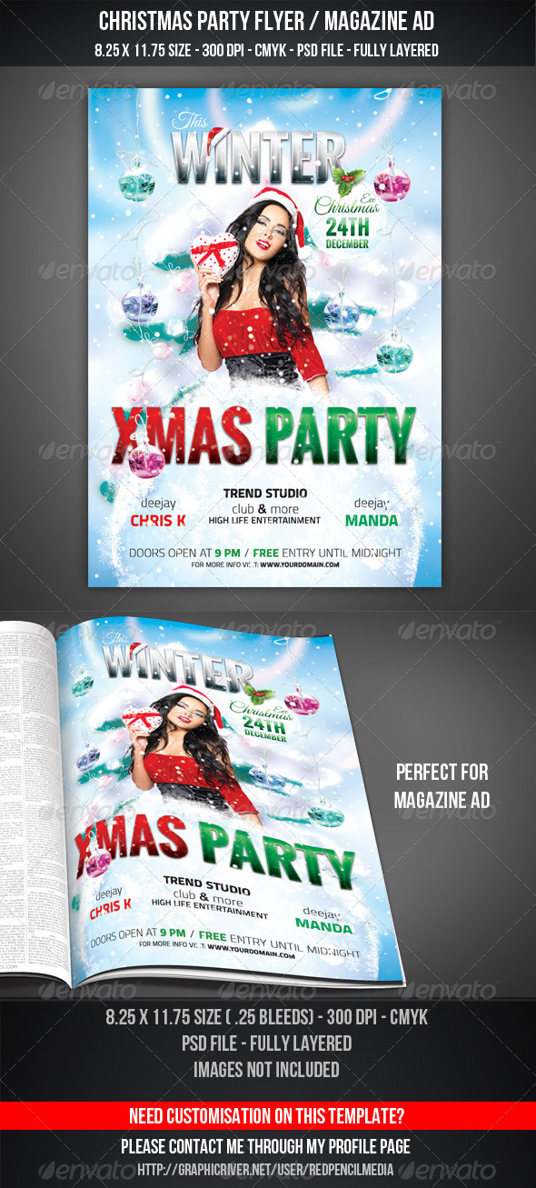 Christmas Party Flyer / Magazine AD