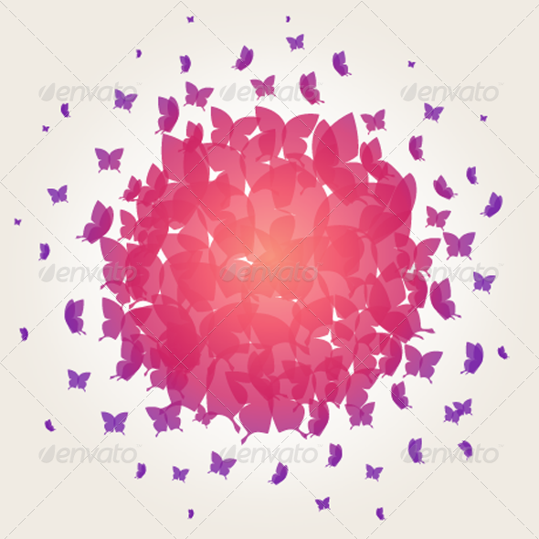GraphicRiver Butterfly Background 3520282