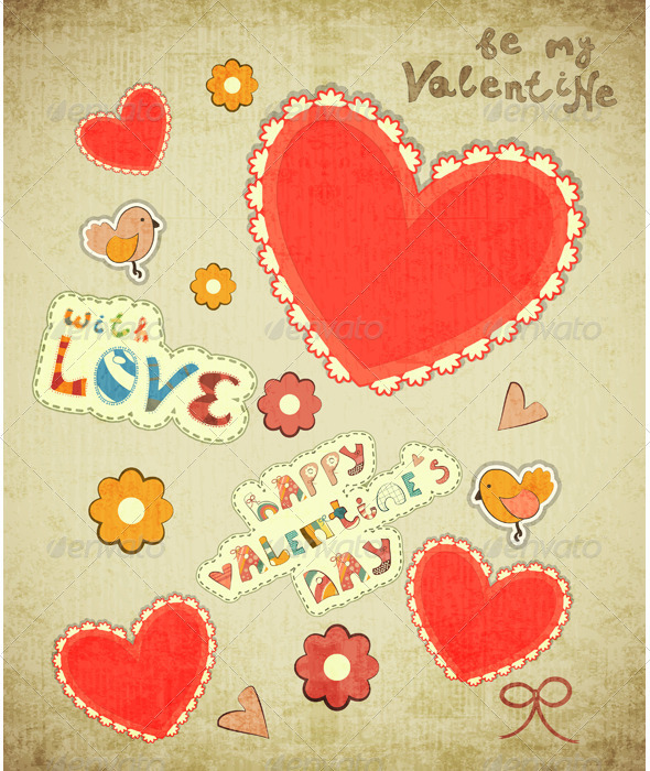 GraphicRiver Valentines Day Card 3520297