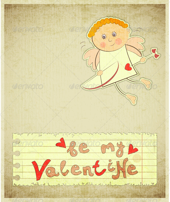 GraphicRiver Retro Valentines Day Card 3520343