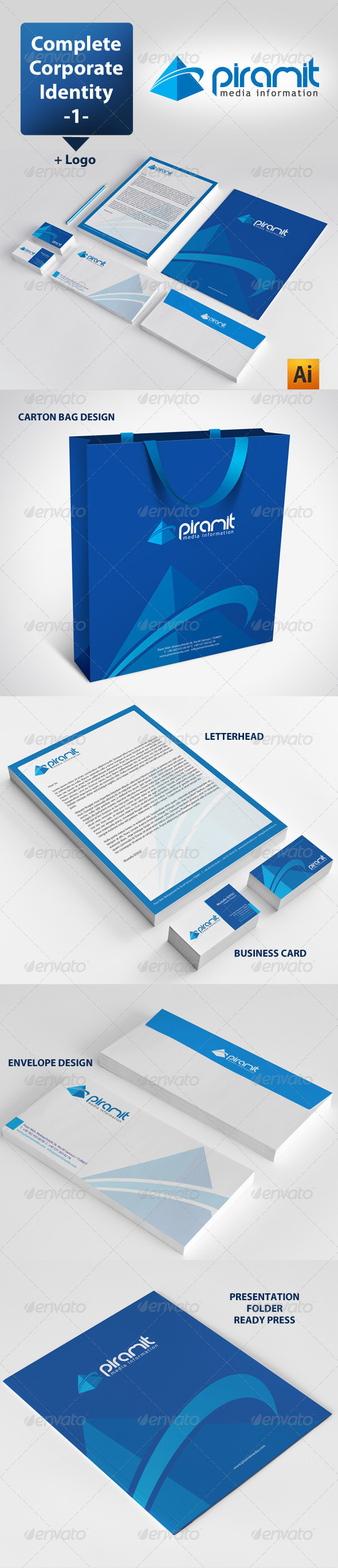 GraphicRiver Piramit Media Corporate Identity Package 3520954