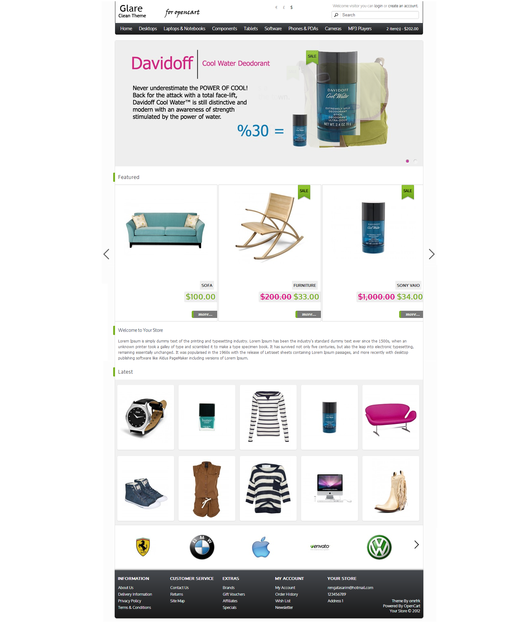 Featured Module - Carousel And Product Annotated