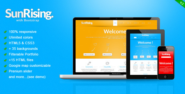ThemeForest SunRising Fresh Responsive Template 3165501