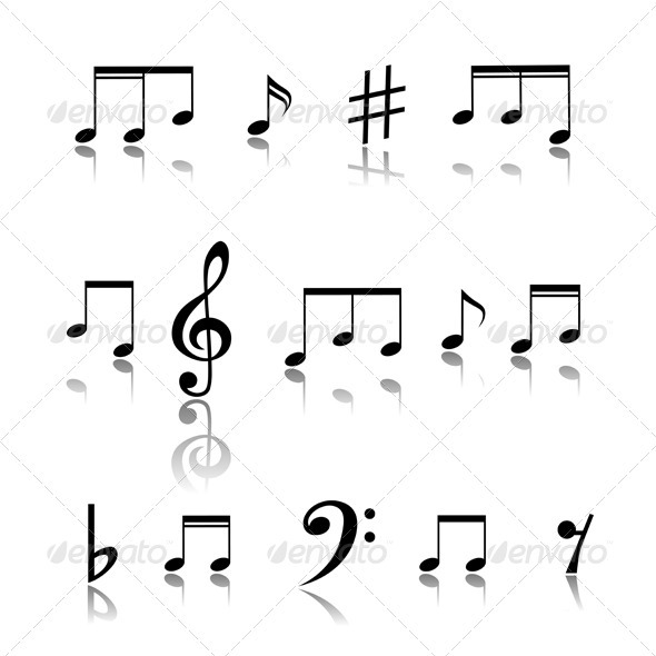 GraphicRiver Music Notes 3521870