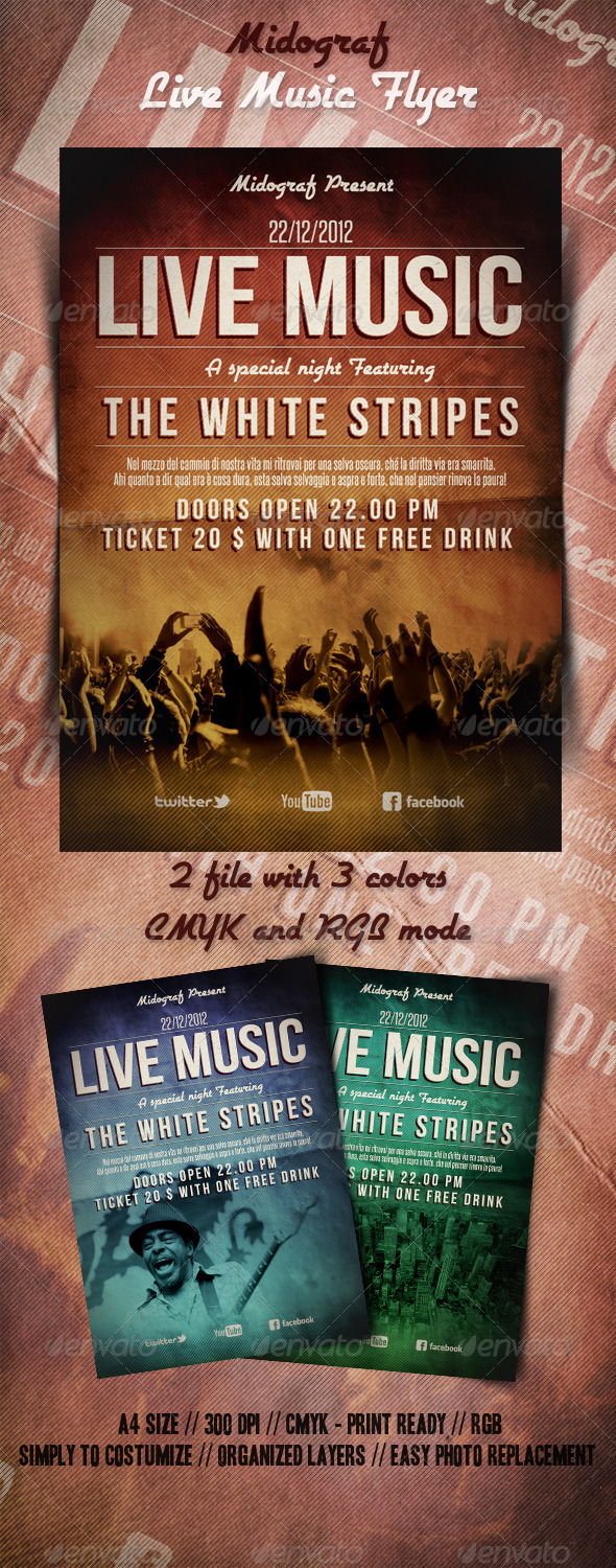 GraphicRiver Live Music Flyer 3522296