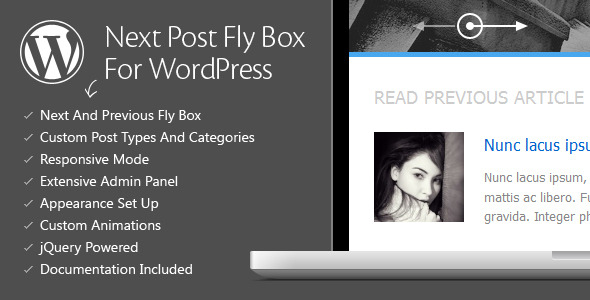 CodeCanyon Next Post Fly Box For WordPress 3020948