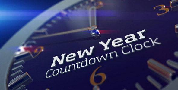 VideoHive 2013 New Year Countdown Clock 3522310
