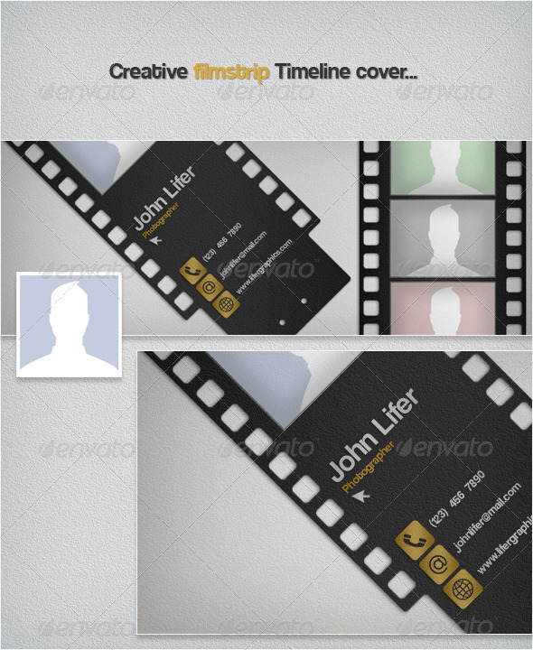 GraphicRiver Creative Filmstrip Timeline Cover 3522365
