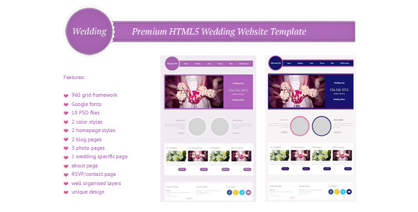 Wedding - Premium HTML5/CSS3 Website Template