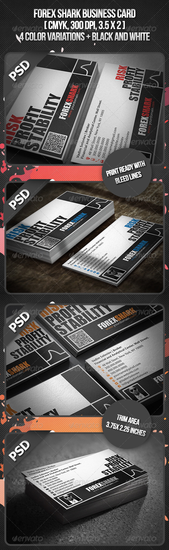 GraphicRiver Forex Shark Business Card 3522454