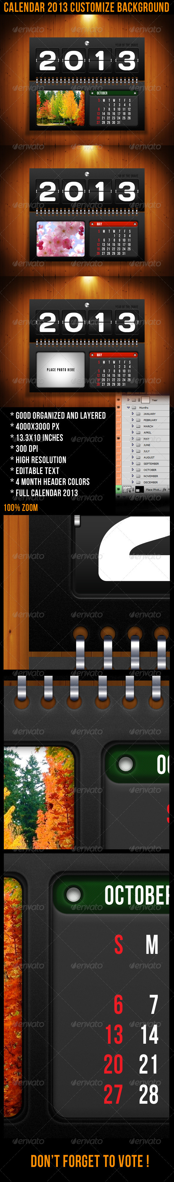 GraphicRiver Calendar 2013 Customize Background 3485341