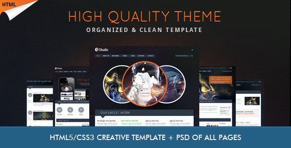 ThemeForest 9studio Creative Unique HTML5 Theme 3371502