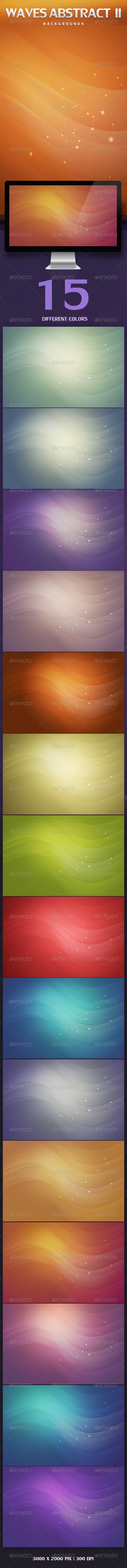 GraphicRiver Waves Abstract Backgrounds V2 3522988