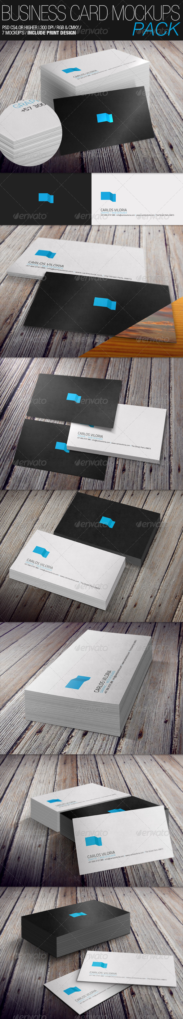 GraphicRiver Business Card Mockup s Pack 3494903