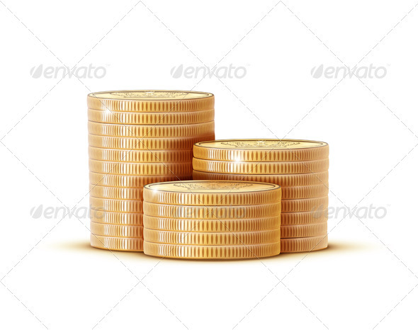 GraphicRiver Stacks of Golden Coins 3523547