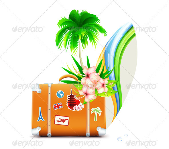 GraphicRiver Summer Travel Concept 3523549