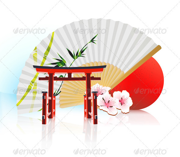 GraphicRiver Decorative Traditional Japanese Background 3523559