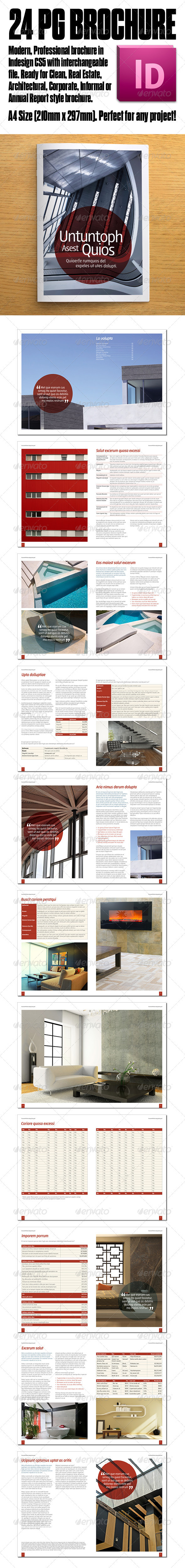 GraphicRiver Architecture Report Corporate 24pg Brochure 3523566