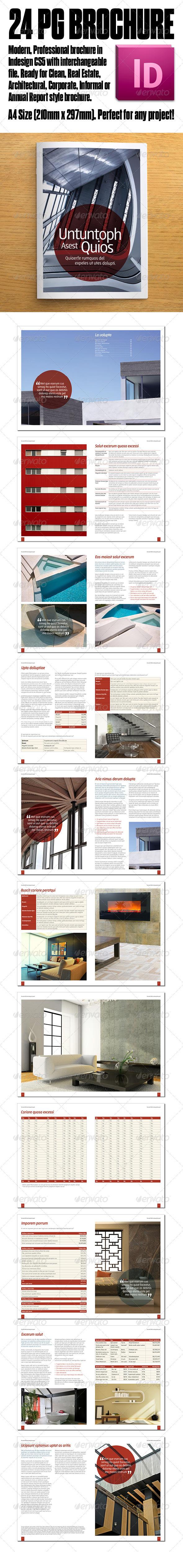 GraphicRiver Architecture Report Corporate 24pg Brochure 3523566