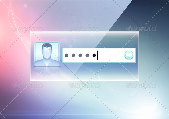 GraphicRiver Login Screen Concept 3523570