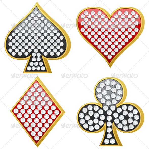 GraphicRiver Jewelry Playing Card Symbol 3523854