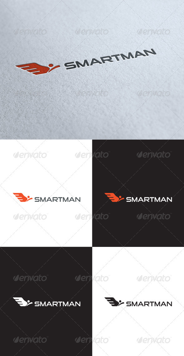 GraphicRiver Smart Man Pro Logo 3512971