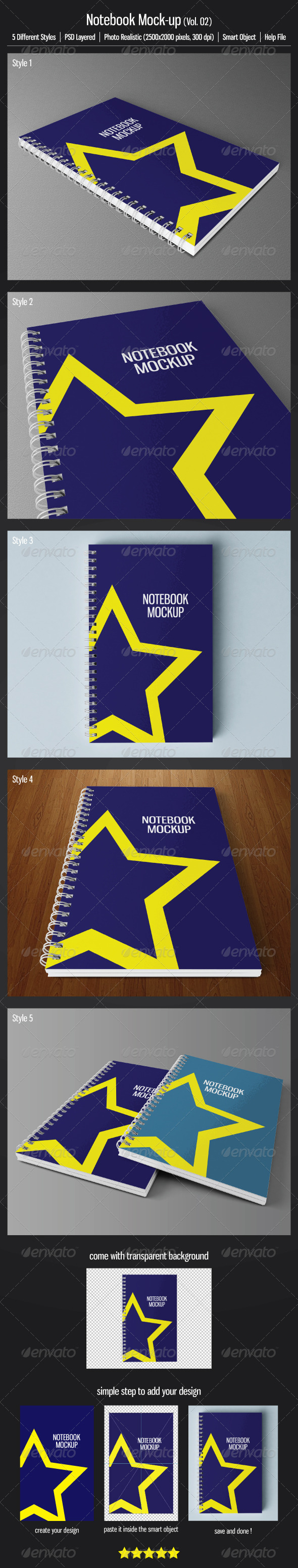 GraphicRiver Notebook Mock-up Vol.02 3524004