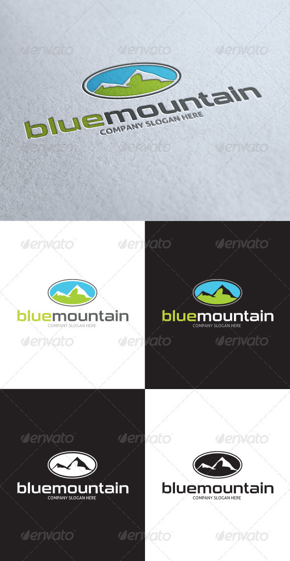 GraphicRiver Blue Mountain Logo 3505985