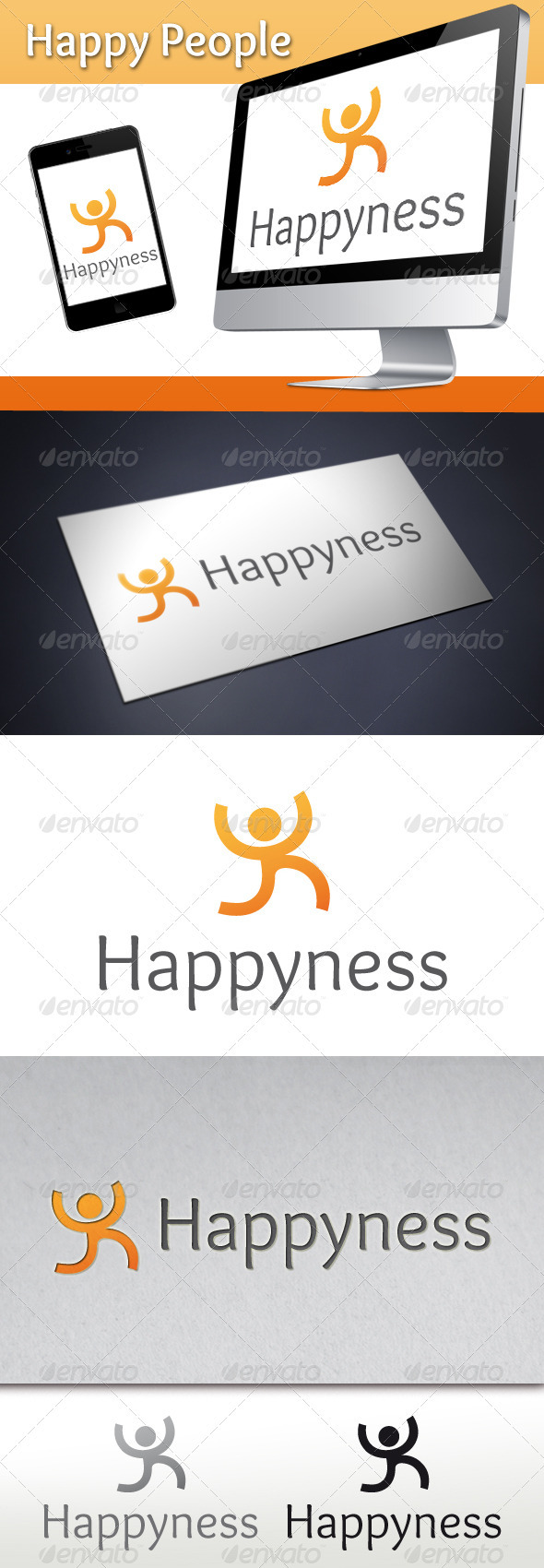 GraphicRiver Happy People Logo 3507536