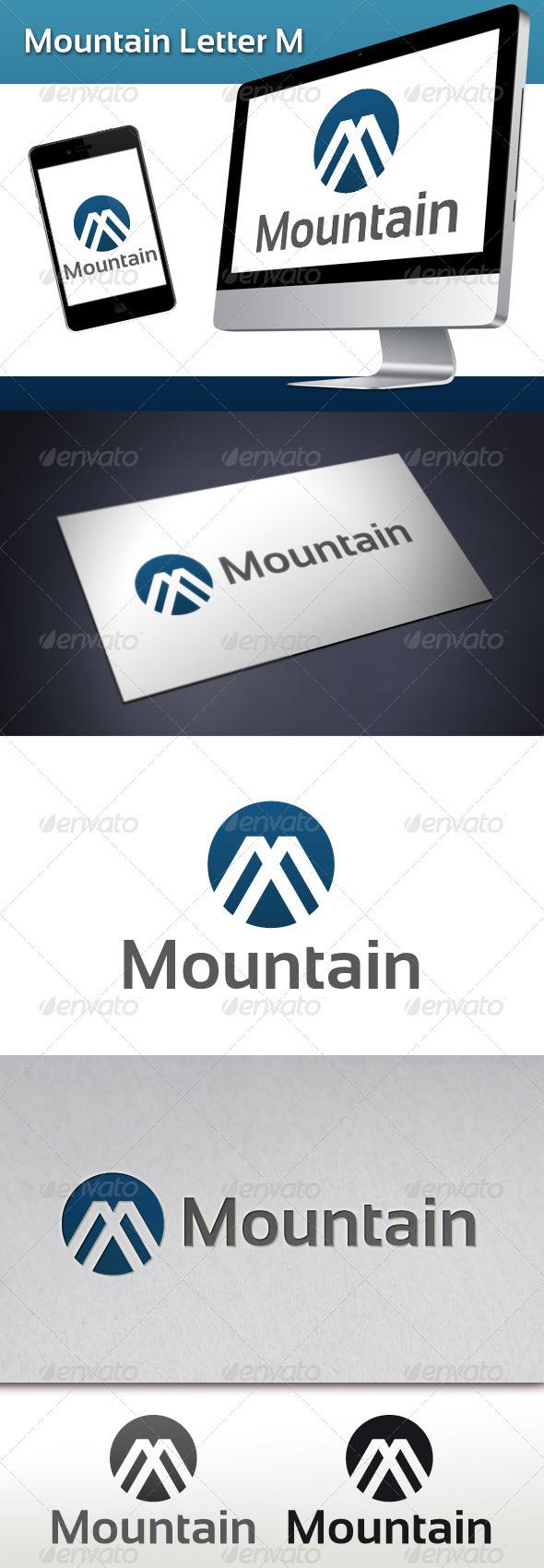 GraphicRiver Mountain Letter M Logo 3507261