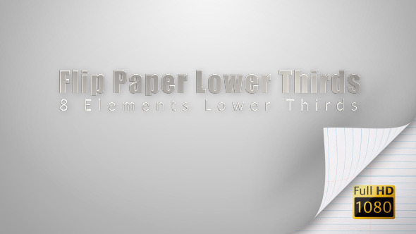 Flip Paper Lower Thirds VideoHive Motion Graphic Lower Thirds 3525370