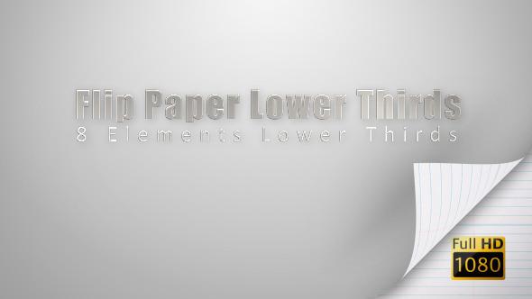 Flip Paper Lower Thirds