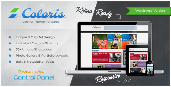 ThemeForest Coloris Responsive News and Magazine Theme 3446470