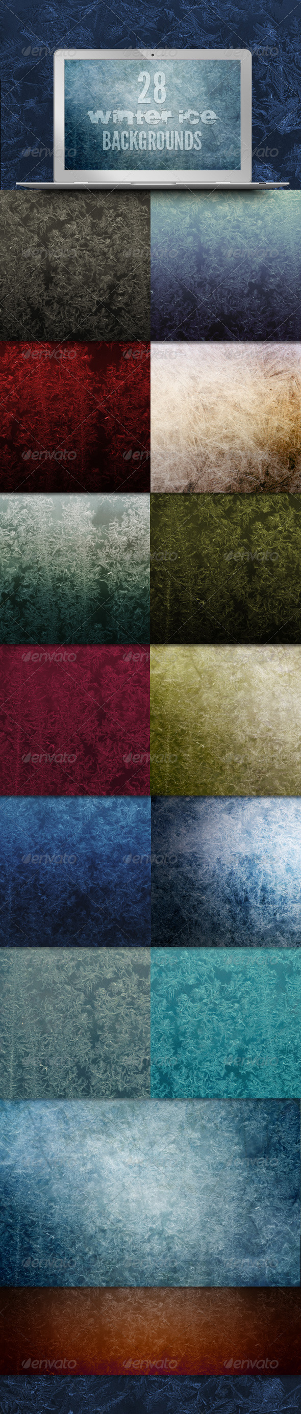 GraphicRiver 28 Winter Ice Backgrounds 3525570