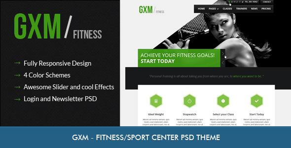 ThemeForest GXM Gym Fitness Club PSD Theme 3476865
