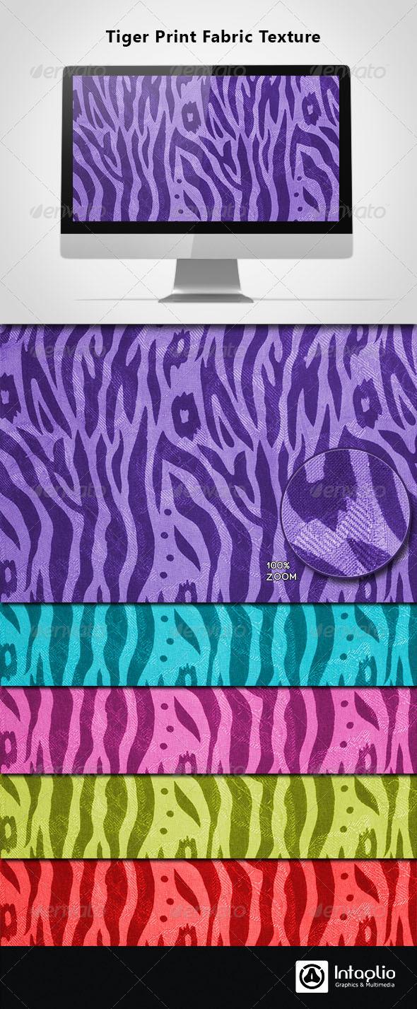 Tiger Print Fabric Texture