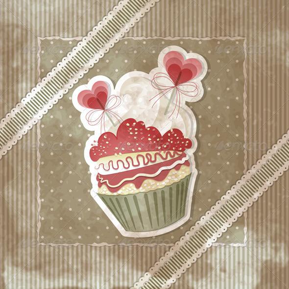 GraphicRiver Love Cupcake 3526119