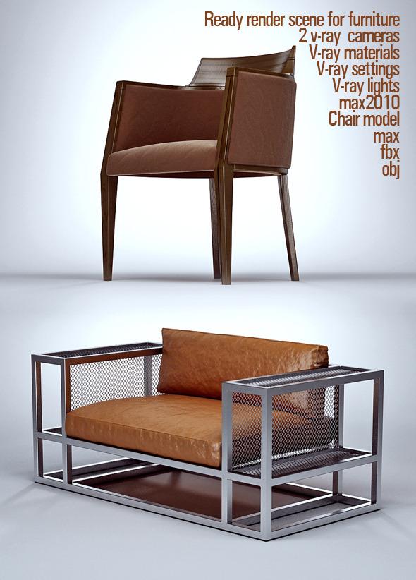 Ready render scene for furniture - 3DOcean Item for Sale