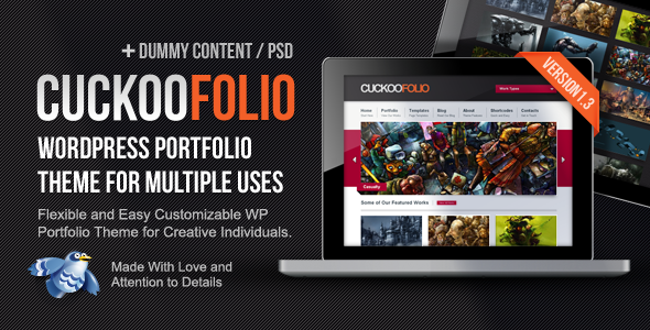ThemeForest CuckooFolio WP Portfolio Theme for Multiple Uses 2748150