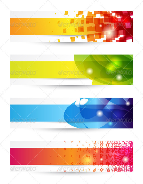 GraphicRiver Four Banners 3526776