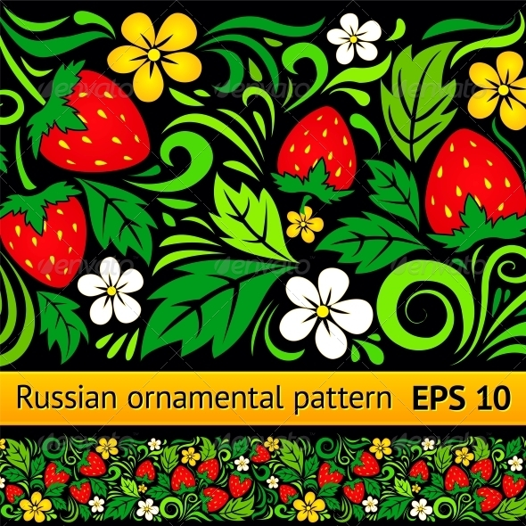 Vector Floral Ornamental Pattern