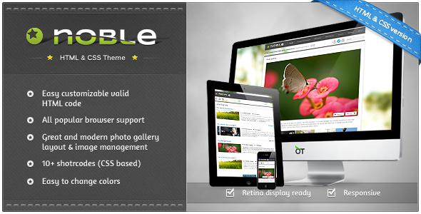 ThemeForest Noble Responsive Magazine Builder Kit Template 3488875