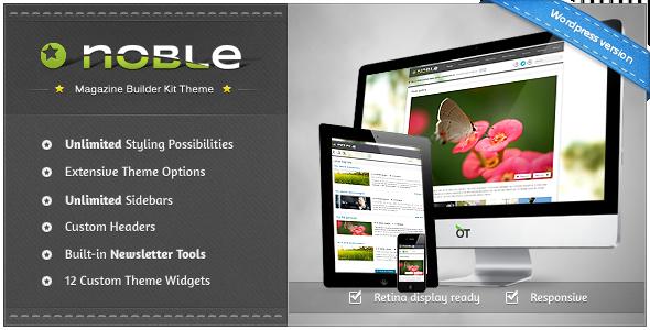 ThemeForest Noble Responsive Magazine Builder Kit Theme 3373453