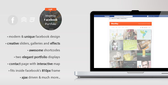 WowWay - Interactive Facebook Portfolio - Creative WordPress